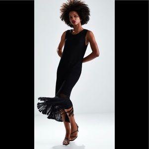 Zara Fringe Crochet Dress